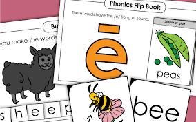 Look at the picture and fill in the missing long vowel for each word. Long E Vowel Sound Phonics Worksheets