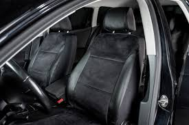 halfords front rear car seat covers full set leather suede look universal
