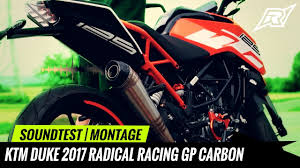 <b>KTM Duke 125</b> *2017* Radical Racing GP Carbon <b>Slip</b>-on ...