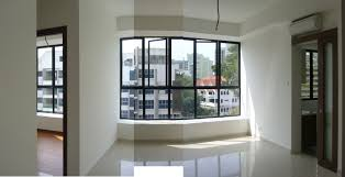 Interior:Bay Window Apartment With Black Frame Idea Bay Window Apartment  With Black Frame Idea