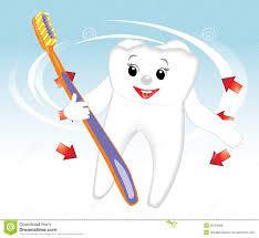 Dent De Sourire Avec La Brosse Dents Dessin Anim Image Libre