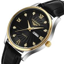 online get cheap discount designer mens watches aliexpress com watches men luxury brand leather quartz watch waterproof business men designer wristwatch 2015 guanqin discount watch