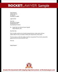 contract letter notice of termination of contract notice letter with sample
