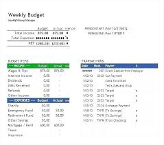 Printable Weekly Budget Template Blank Budget Template Excel Expense Report Blank Form Free Sheet