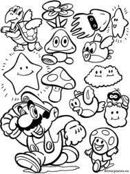 Kleurplaat Mario Wii