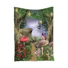 forest wall tapestry mushroom decor design bedroom living room dorm wall h j1a4
