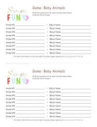Free Printable Baby Shower Guest List Custom Free Printable Baby Shower Games Animal Match Available At 48 Bingo
