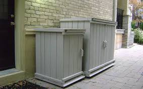 small outdoor garbage can enclosures