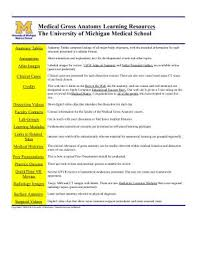 lifescitrc org search results medical gross anatomy learning resources the university of michigan medical school thomas gest university of michigan medical school