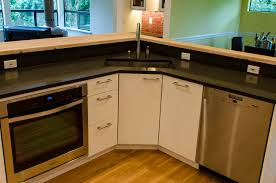 stylish counter island with ikea kitchen cabinets ideas as well as white cabinet dooricrowave shelves over wooden floors in open kitchen ideas