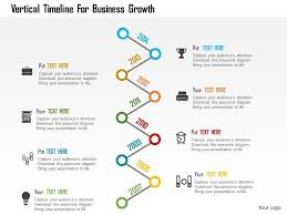 Vertical Timeline Powerpoint Vertical Timeline For Business Growth Flat Powerpoint Design