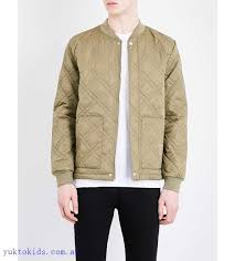 topman quilted er jacket ihnmrrf khaki