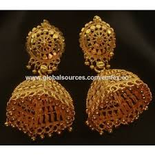 india gold plated jewelry chandelier earrings manufacturer gold plated jhumka earrings