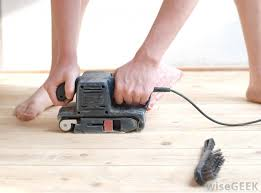 a wet sander may be used to polish floors