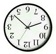 Updside Down Clock