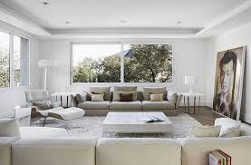 View in gallery Modern minimalist living room in pristine white