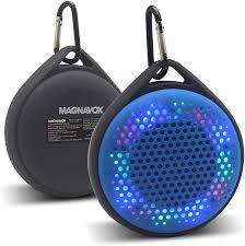 Waterproof Speaker With Lights Amazon Com Magnavox Outdoor Waterproof Speaker With