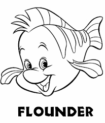 Small Picture Flounder Coloring Pages For Kids And For Adults Coloring Home