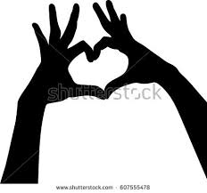 hearts silhouette silhouette vector hands silhouettes hearts on stock photo photo