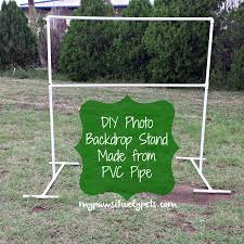 creating this photo backdrop stand only cost me 3 we had plenty of pvc pipe in our barn already my father also has a pvc pipe cutter so he was nice and