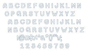 Bubble Letters Font Bubble Letters Fontm
