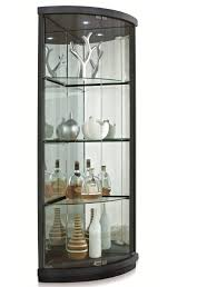 Glass Curio Cabinets With Lights Corner Curio Cabinet From House To Home Pinterest Cabinets