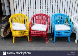 brightly painted furniture. Brightly Painted Cane Chairs Outside An Antique Shop In South Hobart Tasmania Furniture I