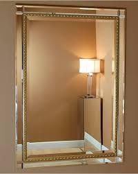 cattolica gold edge detail wall mirror 104 x 74 cm