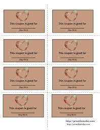 Blank Coupon Templates Printable Blank Coupon Template With Blank Love Coupon Template 16
