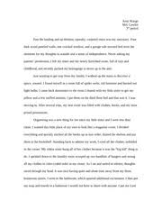 foreign exchange student college essay amy wargo gannon  2 pages college essay about my room
