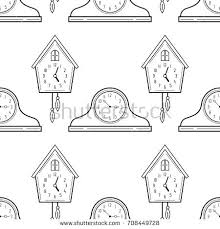 Cuckoo Clock Coloring Page Digital Clock Coloring Page Pictures ...