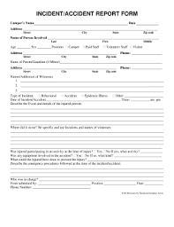 Incident Accident Report Form Fill Out And Sign Printable
