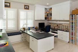 office room pictures. White Home Office And Craft Room With Custom Built-In Cabinetry Pictures
