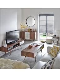 retro living room furniture. monty 1drawer retro tv unit in walnuteffect and white up to living room furniture n