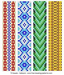 Bead Weaving Patterns Extraordinary Hatbandloombeadwork48 Pinteres