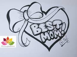 4000x3000 i love you mom graffiti draw best mom on a heart puffy ribbon bow