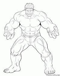 Coloriage Hulk Raging Coloriage Hulk L