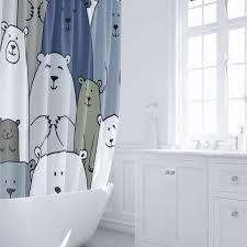 <b>Штора для ванной Fixsen</b> Bear FX-2503 без колец в современном ...