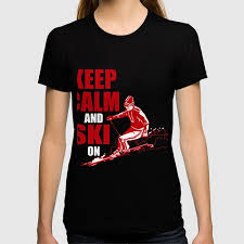 costume for skiing lover gift ideas for daughter son t shirt by ip society6 dan16 society6