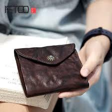 <b>AETOO Original</b> men's ladies <b>old</b> leather <b>handmade</b> leather short ...