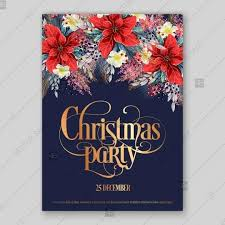 Sample Of Christmas Party Invitation Poinsettia Christmas Party Invitation Sample Card Beautiful