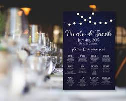 Starry Night Time Sky With Lights 24x36 Wedding Seating