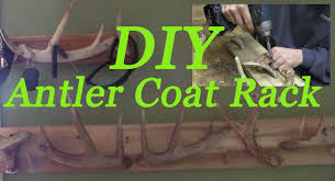 Make Coat Rack DIY Antler Coat Rack How to make antler jacket rack project YouTube 94