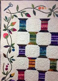 20 best Edyta Sitar images on Pinterest | Quilt block patterns ... & Spool Quilt designed by Edyta Sitar of Laundry Basket Quilts. Pieced by  Dianne Civak and Adamdwight.com