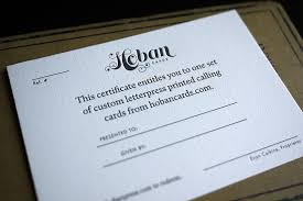 gift certificate for business gift card business hoban press hoban cards gift certificate ideas