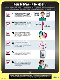 Professional Goals List How To Make A To Do List Infographic Facts
