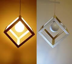 diy modern lighting. Affordable Modern Lighting Ideas With Wooden Cube Pendant Light Hanging Images Diy
