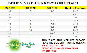 Converse Us Size Chart Rick Sanchez New Arrival Awesome Converse Shoes