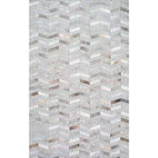 cowhide mitch silver 4 ft x 6 ft area rug