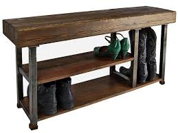 Entry benches shoe storage Diy Entryway Inspiring Entryway With Classy Entry Bench With Shoe Storage And High Quality Teak Bench Black Iron Frame With Level Shoe Rack And Rustic Interior Pinterest Inspiring Entryway With Classy Entry Bench With Shoe Storage And